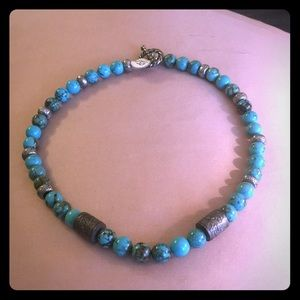 NWT turquoise and silver necklace